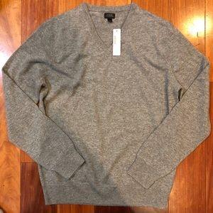NWT J Crew Men's Cashmere V-Neck Sweater
